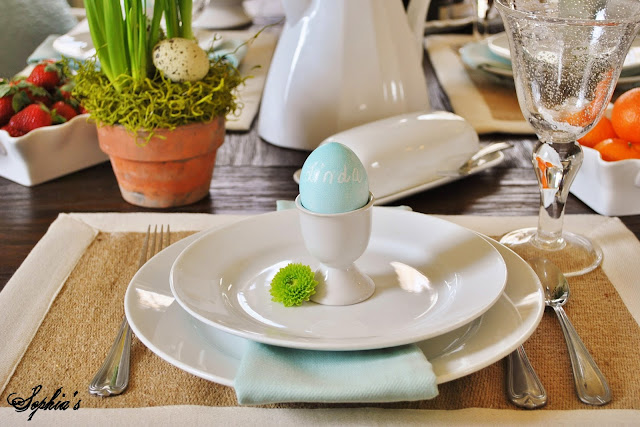Easter Egg Dying Idea Place Setting