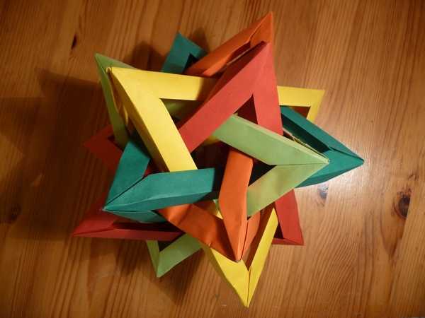 Поделки из бумаги тетраэдр оригами 75