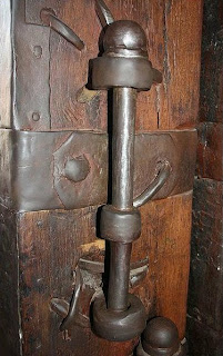 Bolt on inside of door of main gate of Shaniwarwada Fort