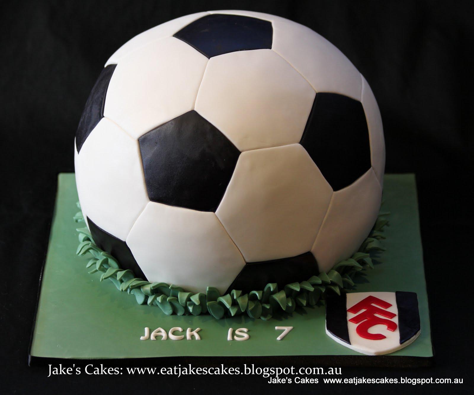 Images Of Soccer Ball Cake : Jake s Cakes: Soccer ball cake