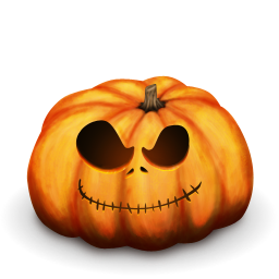 monstruosa calabaza de halloween