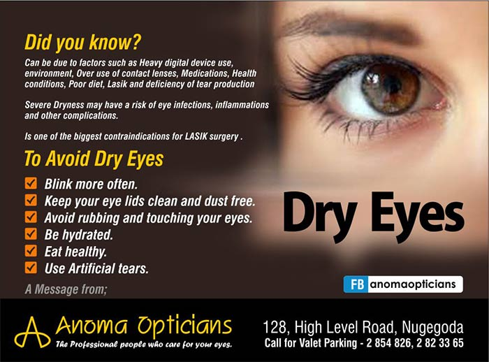 Dry Eyes - Did you know.