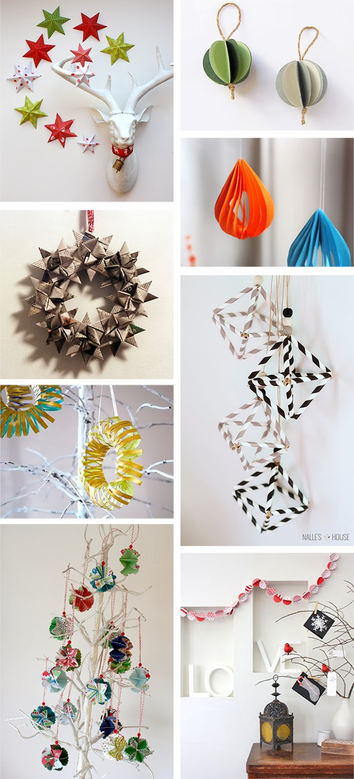 Christmas Decorations Diy With Paper : Diy monday paper christmas ornaments ohoh