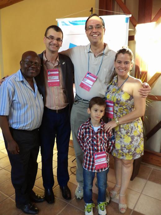 Pedro, Alcemi, Marcus, Laydiane e Lorenzo: GESAN no Encontro IV Conf Est de SAN + 2 (Nov de 2013)