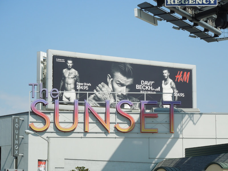David Beckham Bodywear billboard Sunset