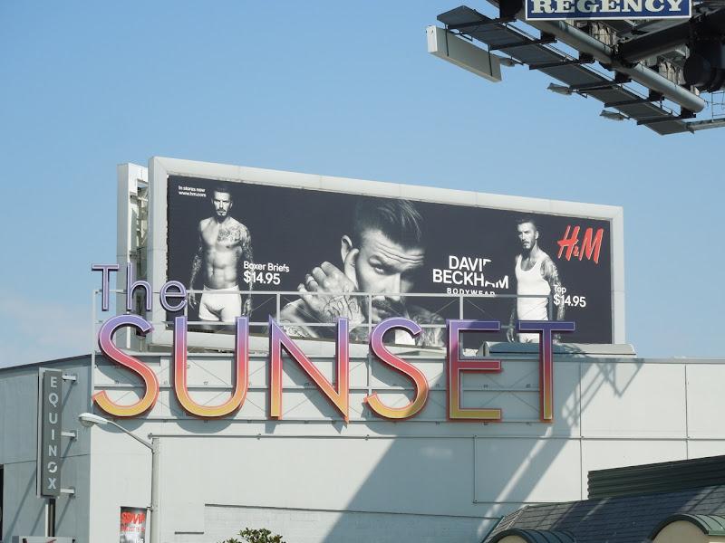 David Beckham Bodywear billboard Sunset