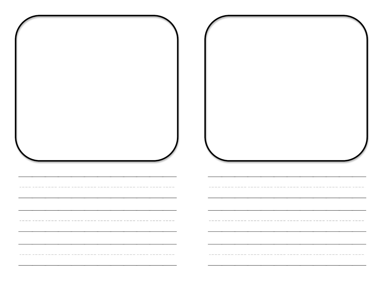 Mini book template free center teacher idea for Blank book template for kids