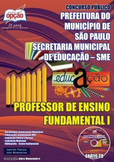 Apostila PROFESSOR DE ENSINO FUNDAMENTAL I Secretaria Municipal de Educação –  SME Município de São Paulo