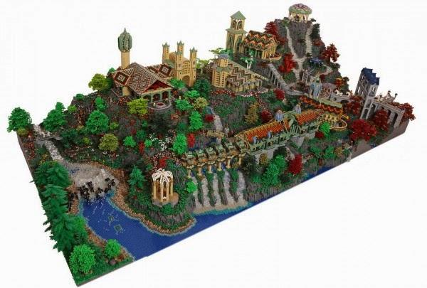 Rivendell cidade elfica lotr lego