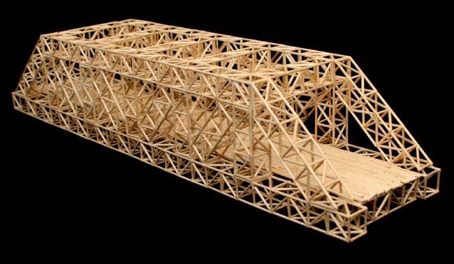 Bridges Bridges Made Out Of Toothpicks