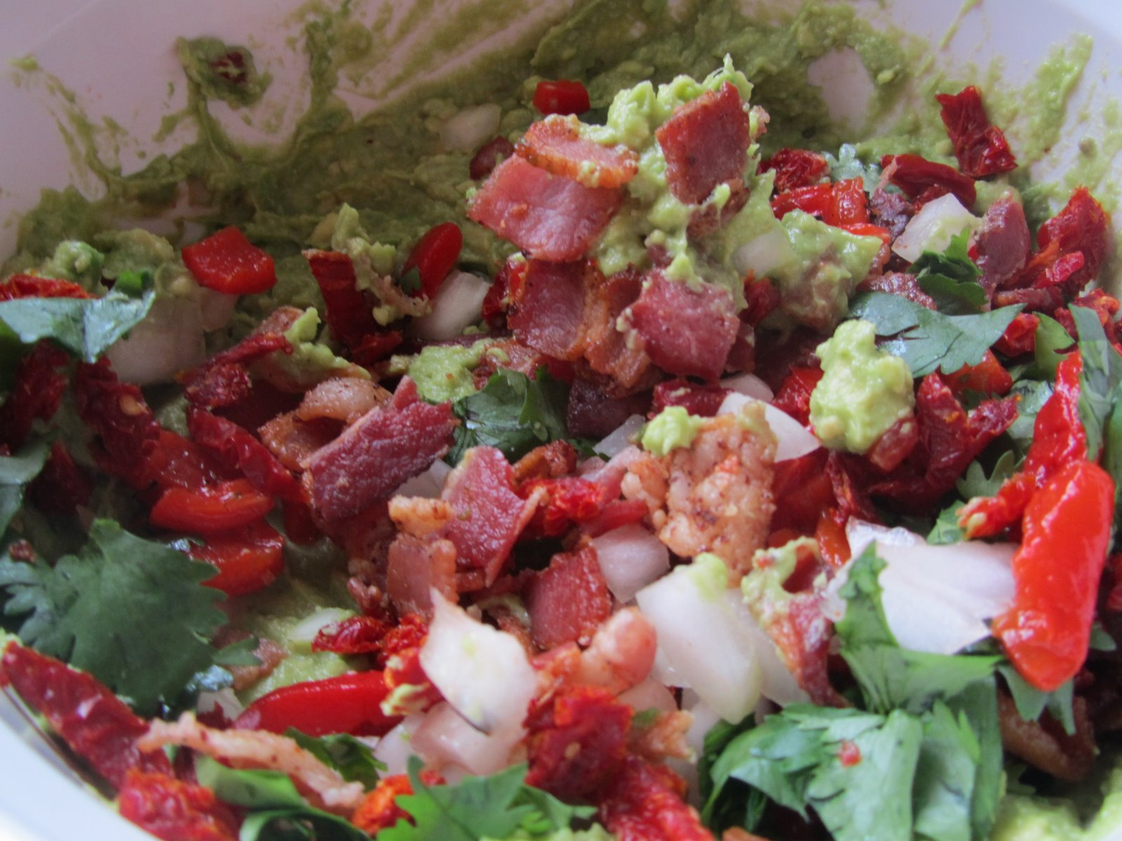 It's Yummy to My Tummy: bacon and sun-dried tomato guacamole