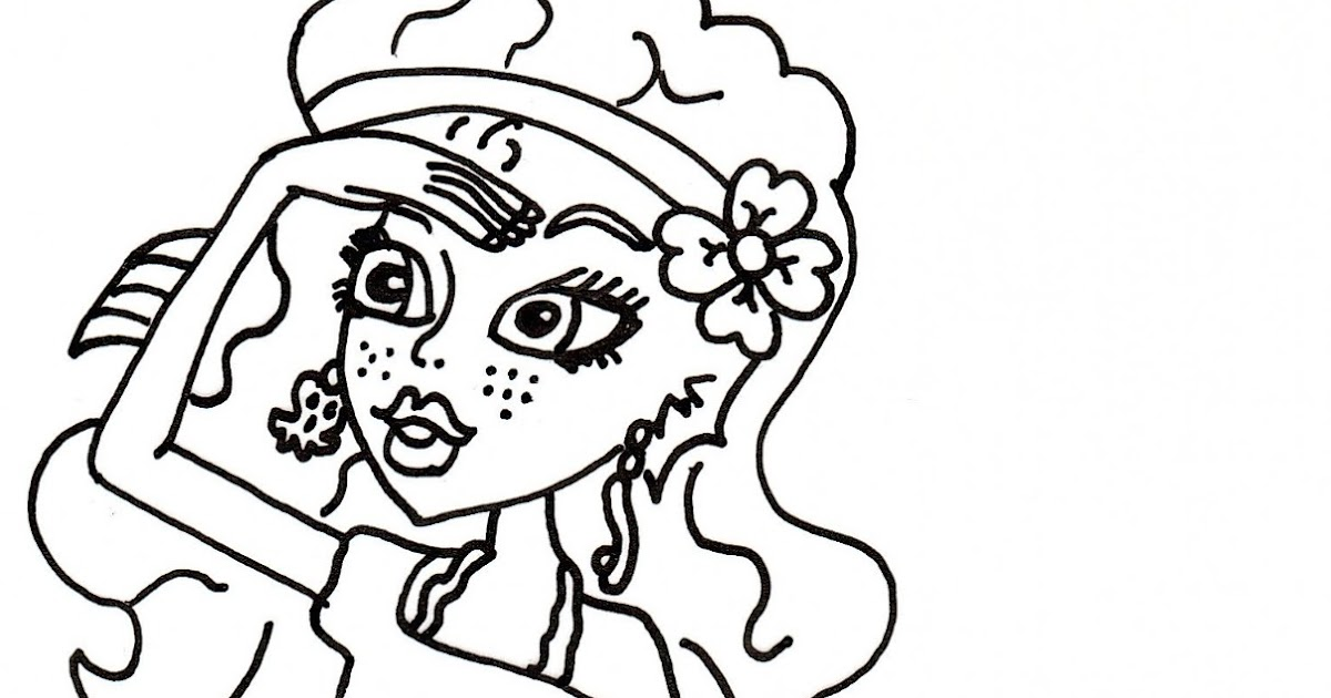 coloring pages monster high skull - photo#21