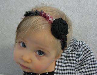 Crocheted Baby Halo Headband available at Kickin Crochet on etsy