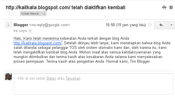 Blog aktif kembali
