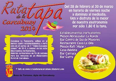CARTEL ANUNCIADOR RUTA DE LA TAPA 2014
