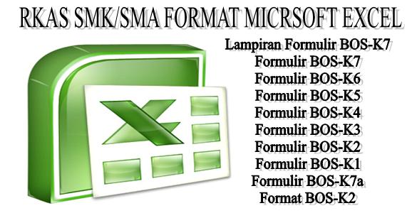 download format rkas smk sma microsoft excel