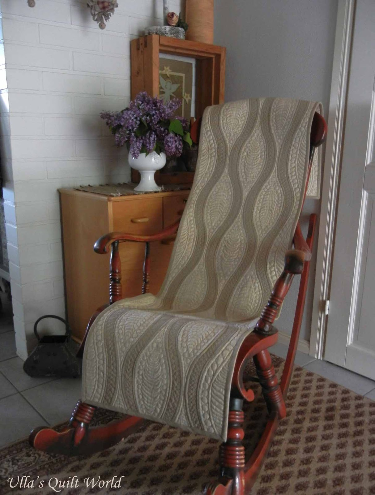 Quick Curve Ruler Rocking Chair cover quilt VIDEO Tutorial