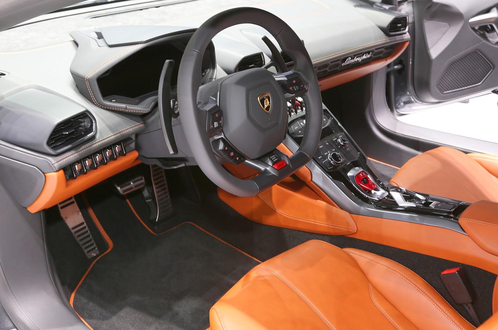 lamborghini huracan interior - Lamborghini Huracan Orange Interior