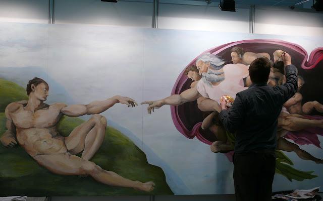 cena reprodukcji obrazu olejnego, malowanie n zmówienie stworzenia adama