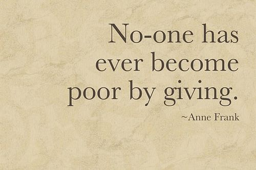 Anne Frank Quote about Giving