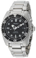 Seiko Men's SKA371 Kinetic Dive Silver