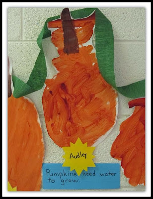 Finger Painting Pumpkins in Preschool via RainbowsWithinReach
