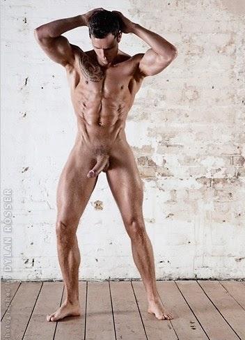 Hairy naked frat men