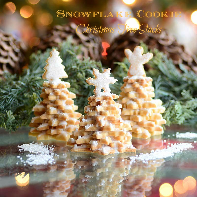 Savoring Time In The Kitchen Snowflake Cookie Tree Stack