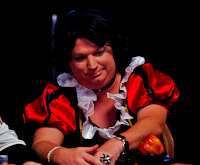 Richard Wyrick, dressed as Snow White for the latter part of Day 1a at the 2011 WSOP Main Event