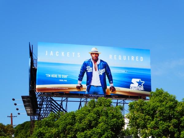 Yasiel Puig Starter Dodgers Jacket billboard