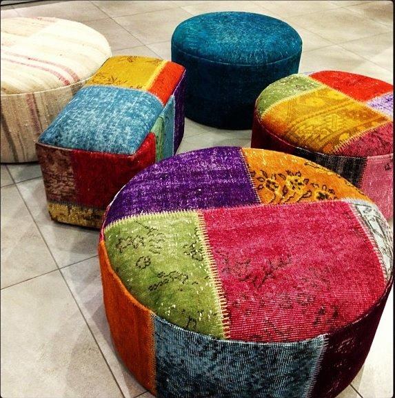 Vintage Carpet Turkish Persian Rugs Kilims And More Patchwork New Turkish Kilim Pouf