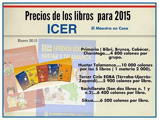 Precio de los libros 2015