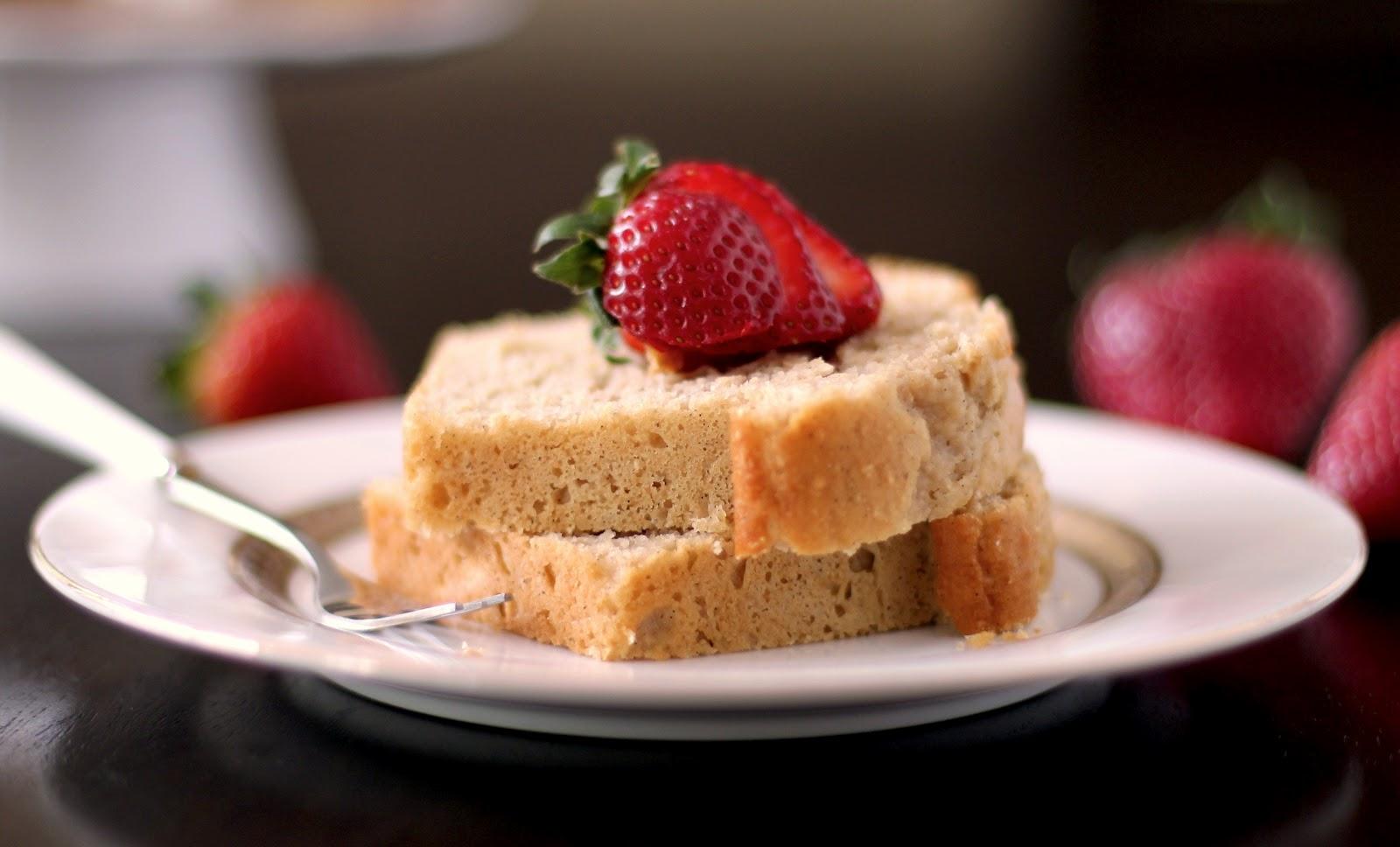 Healthy Vanilla Bean Pound Cake