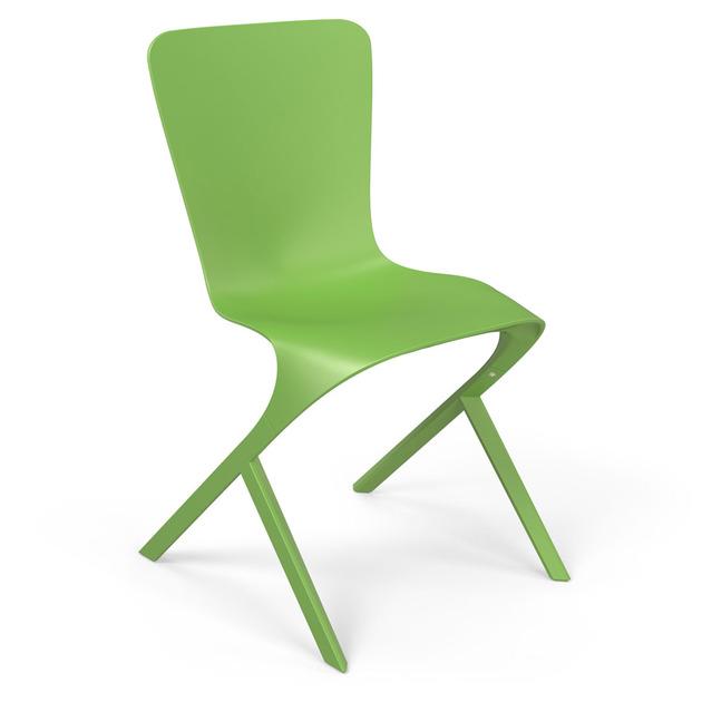 Kursi modern, benda fungsional artistik dalam ruang modern, baik ...