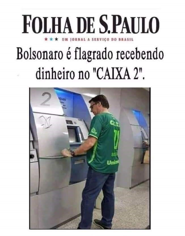 Bolsonaro é flagrado