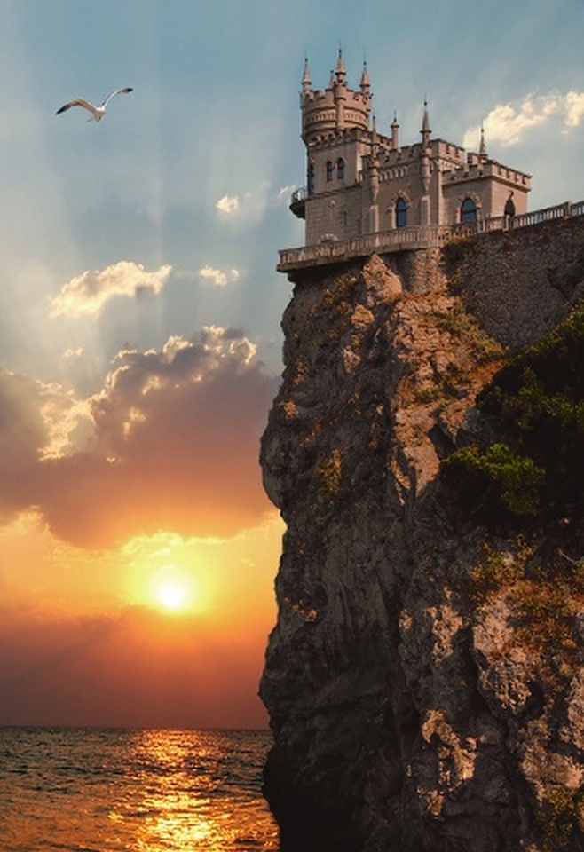 Castle Swallow's-Nest,Yalta, Ukraine:
