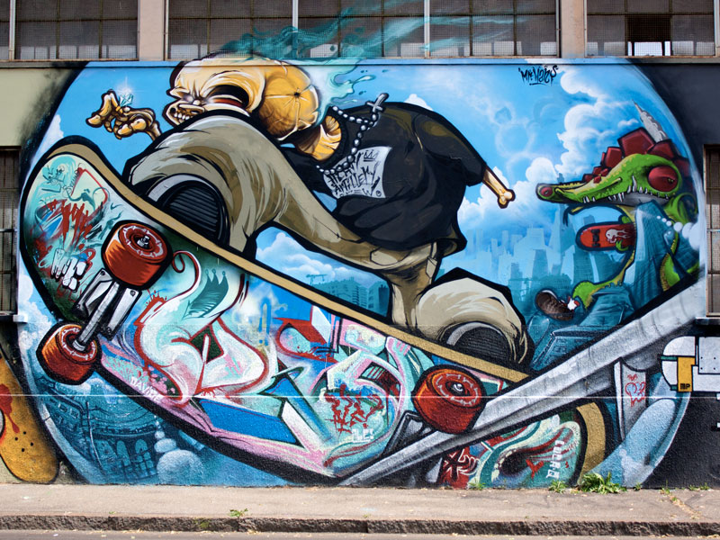 Mi blog de arte y comunicacin 2014 graffitis legales o ilegales graffiti echo por un skater altavistaventures Images