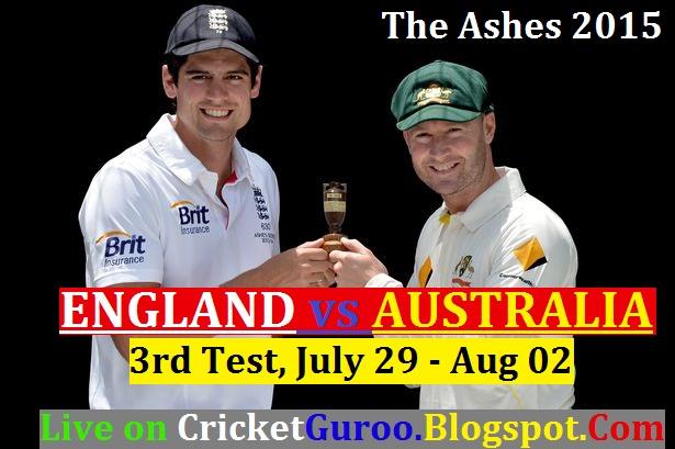 England vs Australia 3rd Test Live Streaming