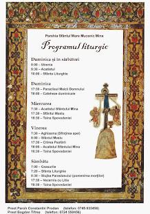programul liturgic