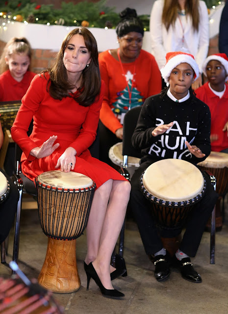 Princess , Duchess of Cambridge @ Kate Middleton - Anna Freud Centre Family School Christmas Party - London, England