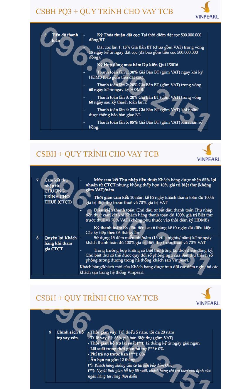 Tiến độ đóng tiền Vinpearl Phú Quốc giai đoạn 3