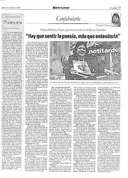 Entrevista en el Diario Notitarde