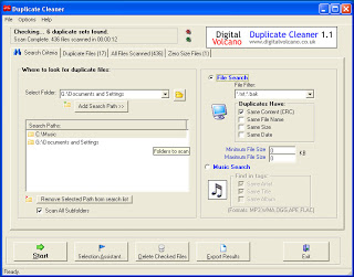 Duplicate Cleaner Free 3.2.1 ������ ������� ������� �� ��������� ����� ��
