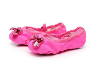 Model Sepatu Balet Cantik Warna Pink