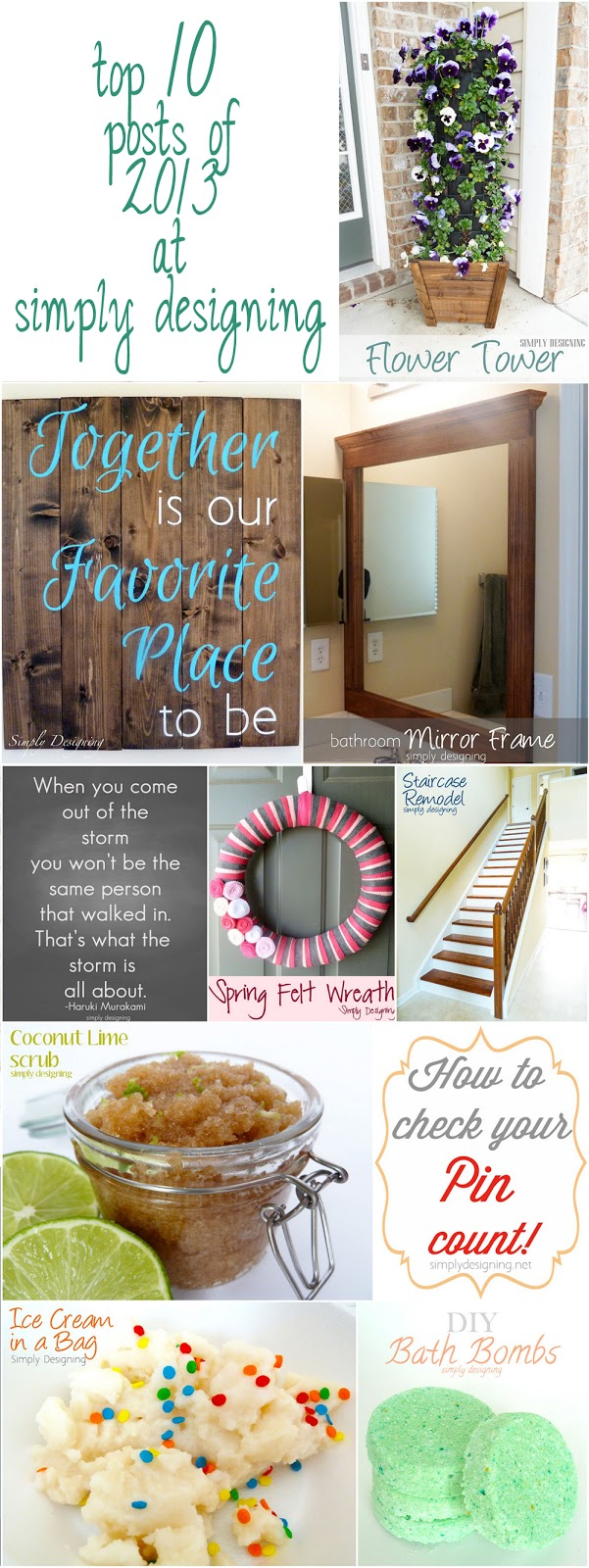 top 10 posts of 2013 from Simply Designing | #DIY #crafts