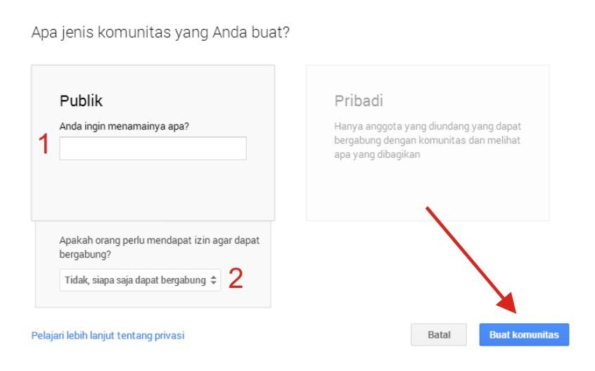 Langkah-langkah Membuat Sebuah Komunitas Google+ Terbaru