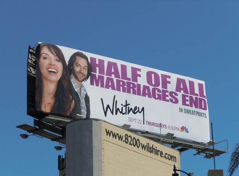 Marriages End Whitney TV billboard