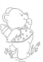 """""""desenho de ursinho com mamadeira para pintar"""""""