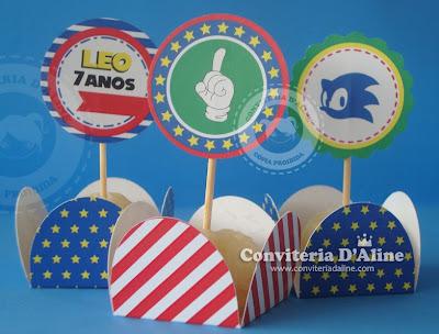 decoração festa infantil Sonic