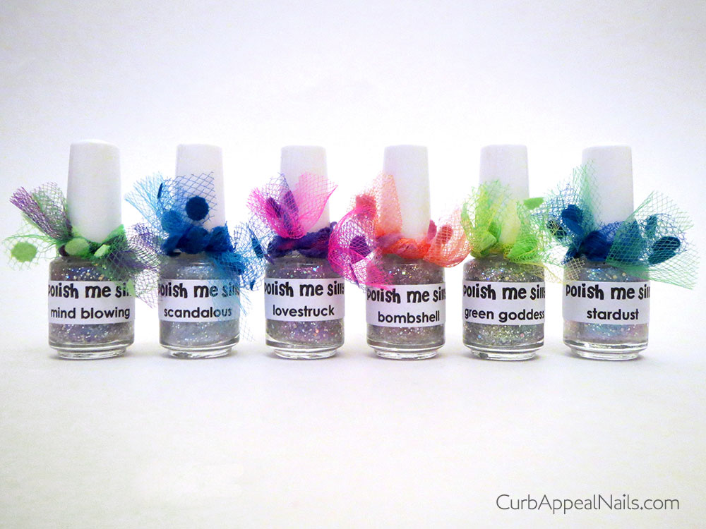 Polish Me Silly Meet My Chromies Multichrome Glitter Top Coat Collection